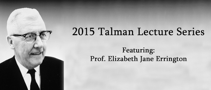 Talman Lecture series banner