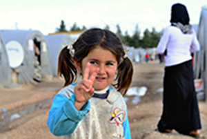 refugee girl