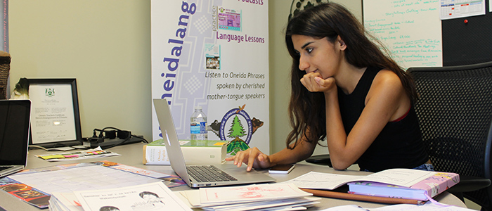 Ashna Ali works to digitize Oneida language children's books