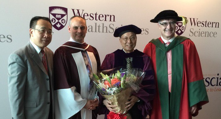 Dean Robert Andersen, Yue-Man Yeung, and Professor Dan Shrubsole