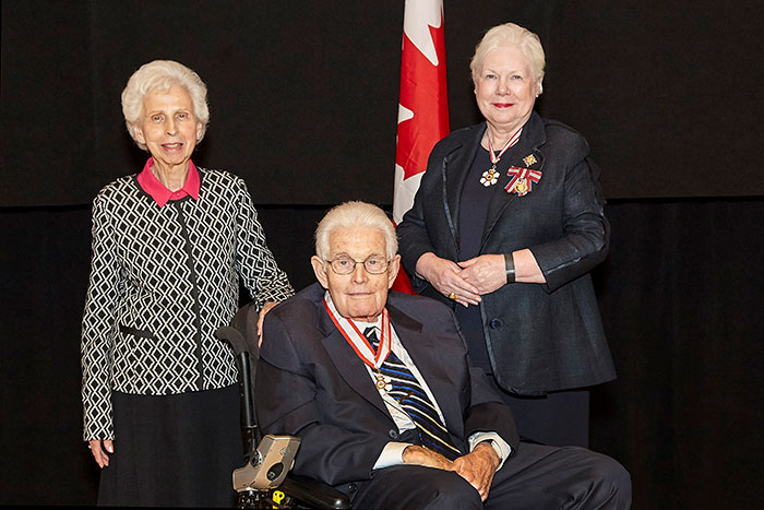 Eloise Wonnacott, Ron Wonnacott and Lieutenant Governor of Ontario, the Honourable Elizabeth Dowdeswell.