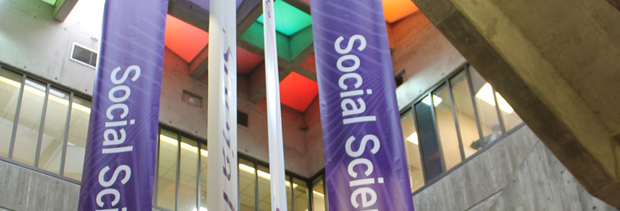 Banners in Social Science Centre at Western