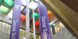 Banners in Social Science Centre