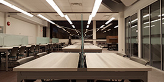 Tables in the Social Science Reading Room at Western University