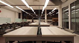 Tables in the Faculty of Social Science Reading Room at Western University